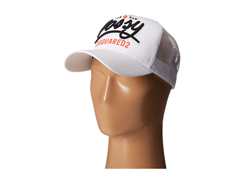 DSQUARED2 - Possy Baseball Cap (White) Baseball Caps