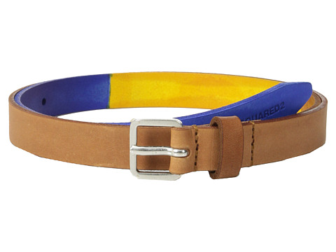 DSQUARED2 - Saturated Color Belt (Blue/Yellow) Men's Belts