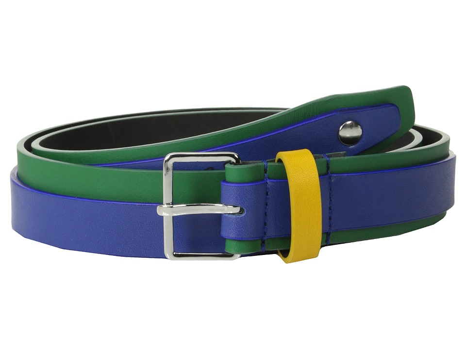 DSQUARED2 - Full Color Belt (Green/Fuchsia) Men's Belts