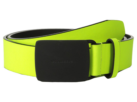 DSQUARED2 - Black Fluorescent Belt (Fluorescent Yellow) Men's Belts