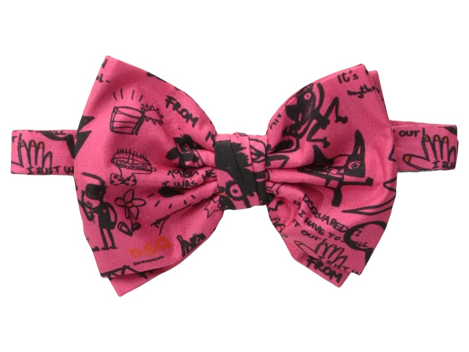 DSQUARED2 - All Black Bow Tie (Rose) Ties