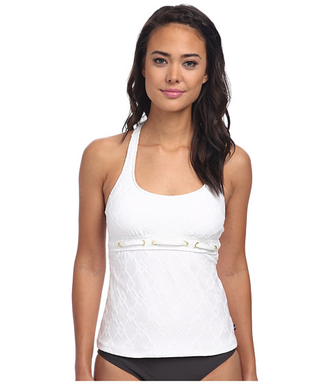 Nautica - Caravel Removable S/C Tankini NA85145 (White) Women's Swimwear