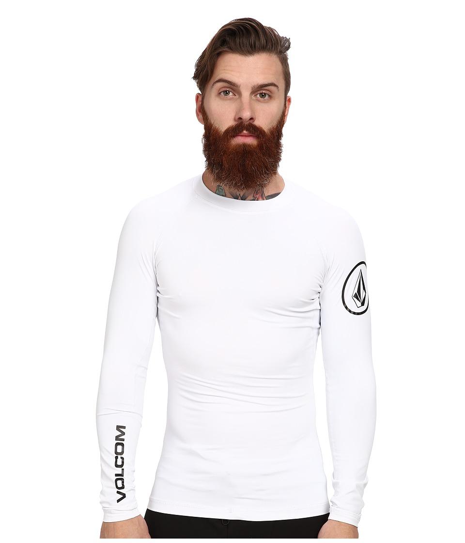 Volcom - Solid L/S Rashguard (White) Men