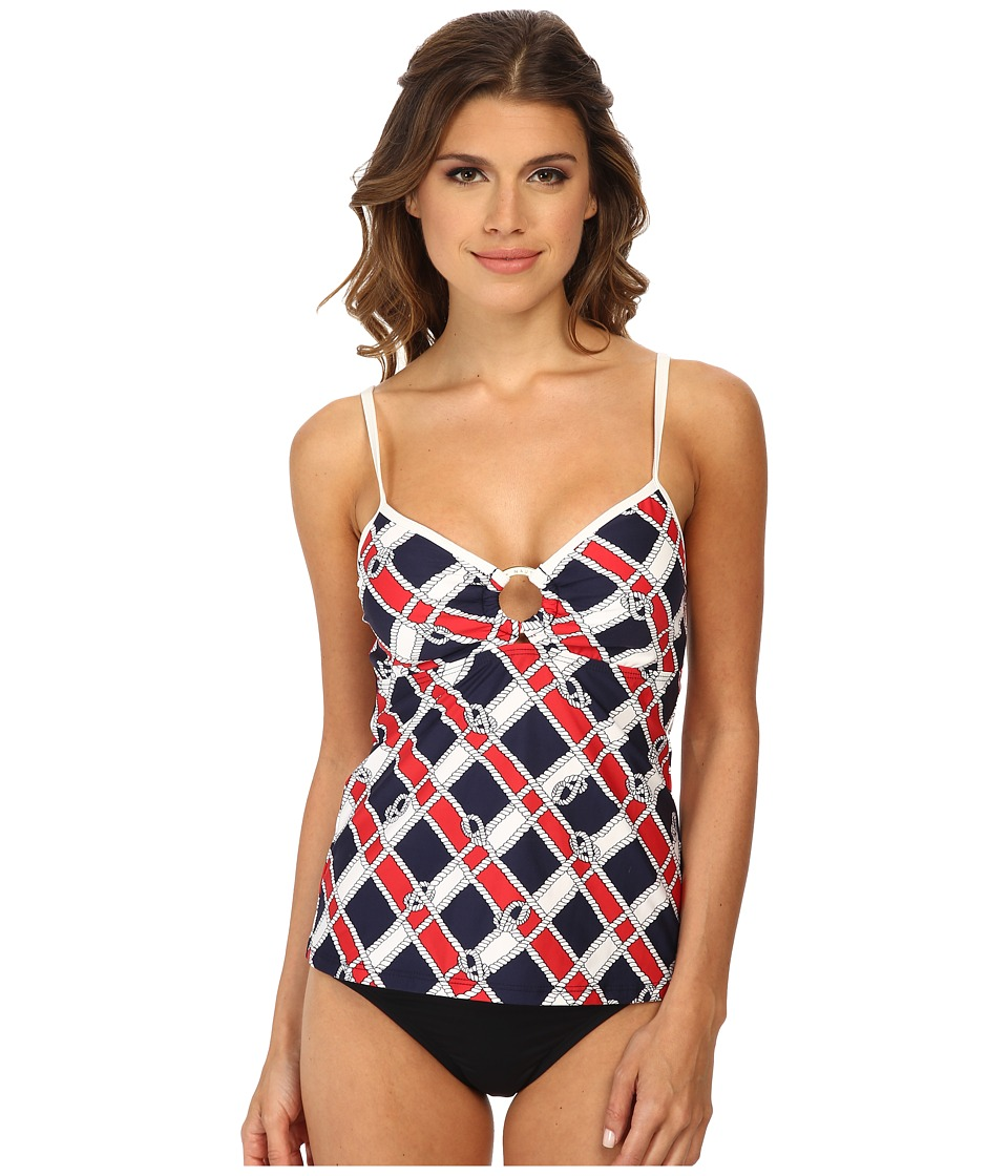 Nautica - Know The Ropes Rem S/C Tankini NA89145 (Navy) Women