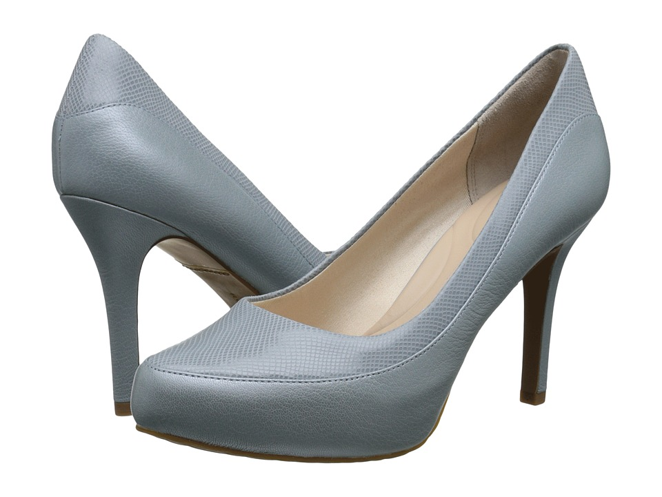 Rockport - Seven to 7 High Color Block Pump (Dusty Azure Suede/Pearlized) Women's Shoes
