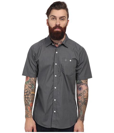 Volcom - Everett Solid S/S (Dark Grey) Men's Short Sleeve Button Up