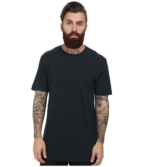 Volcom - Double Blend Tee (Heather Black) Men's T Shirt