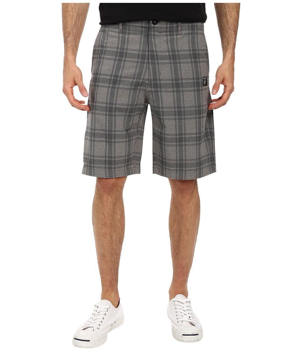 Volcom - Frickin Static Plaid Short (Gunmetal Grey) Men's Shorts