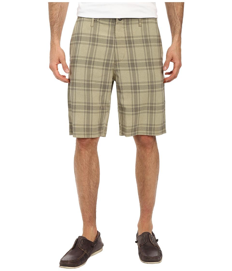 Volcom - Frickin Static Plaid Short (Khaki) Men's Shorts