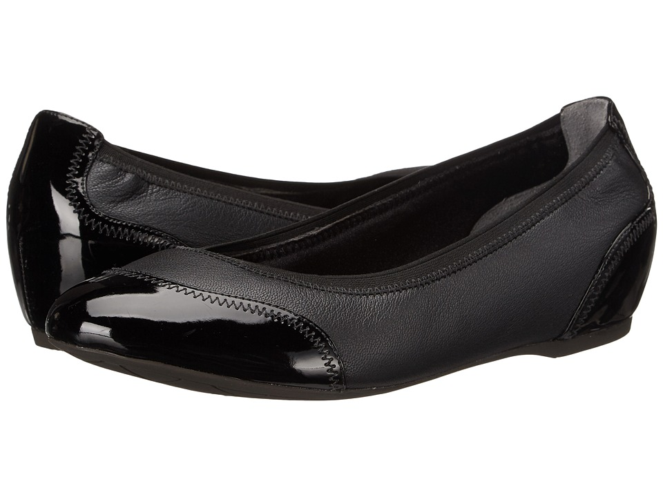 Rockport - Total Motion Crescent Ballet (Black Pearl) Women's Wedge Shoes