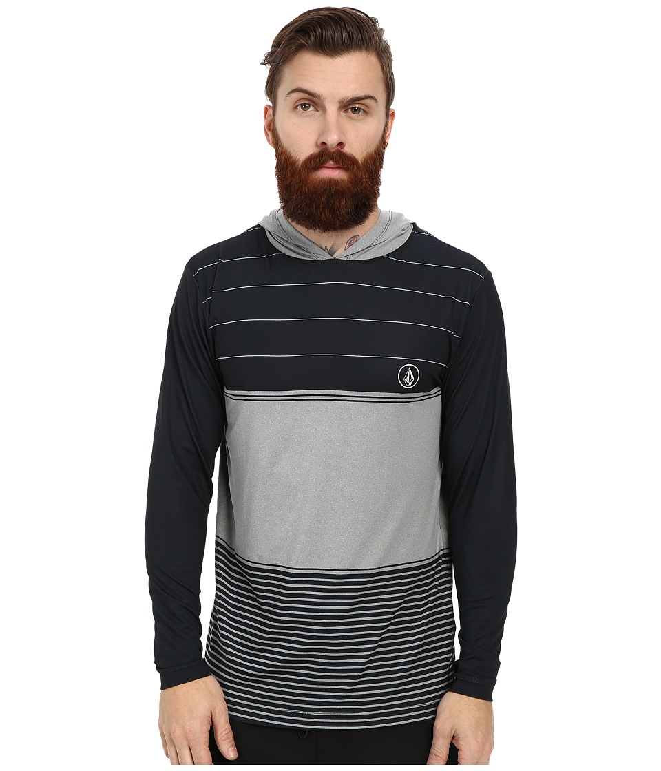 Volcom - Sub Stripe L/S Rashguard (Cement Grey) Men