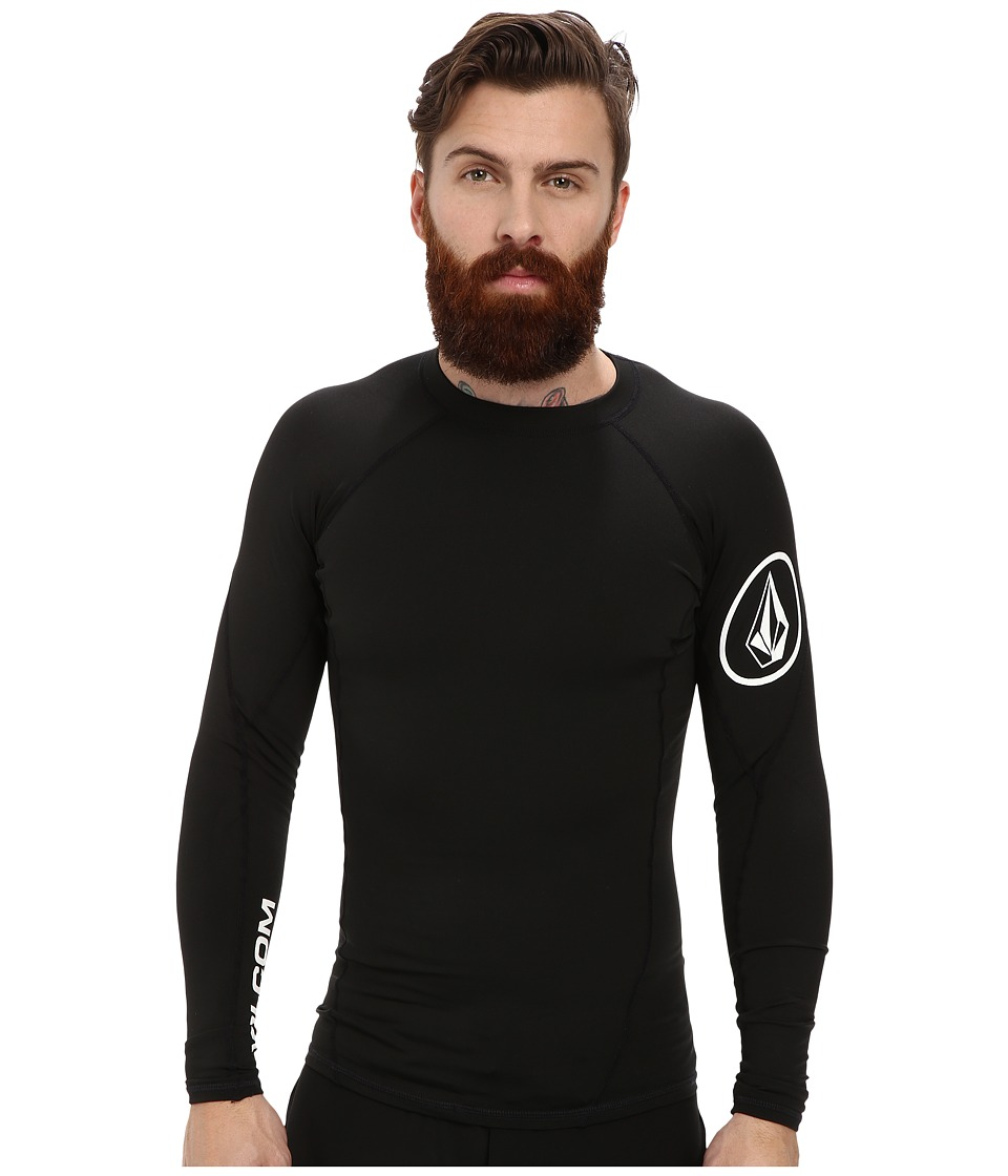 Volcom - Hotainer L/S Rashguard (Black) Men's Swimwear