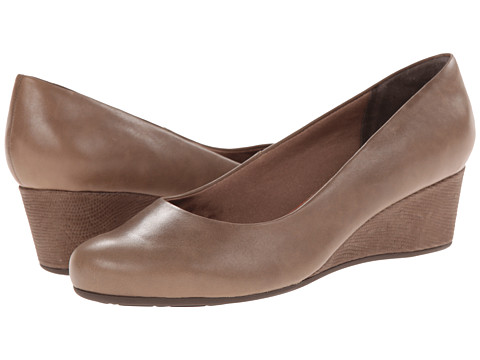 Rockport - Total Motion 45MM Wedge (New Taupe Waxed Calf) Women's Shoes