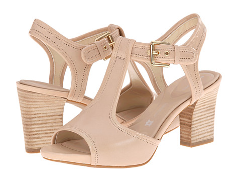 Rockport - Seven to 7 75mm T-Strap Sandal (Nude Vegtan/Patent) High Heels