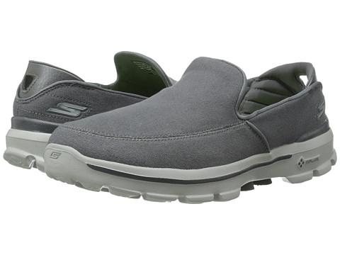 SKECHERS Performance - Go Walk 3 (Charcoal) Men's Slip on Shoes
