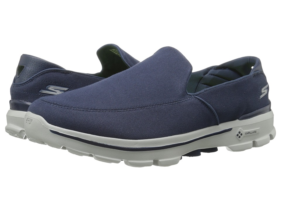 SKECHERS Performance - Go Walk 3 (Navy) Men's Slip on Shoes