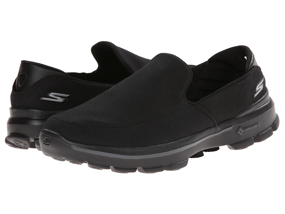 SKECHERS Performance - Go Walk 3 (Black) Men's Slip on Shoes