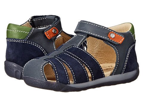 Naturino - Nat. 1368 SP15 (Toddler) (Navy/Green) Boys Shoes