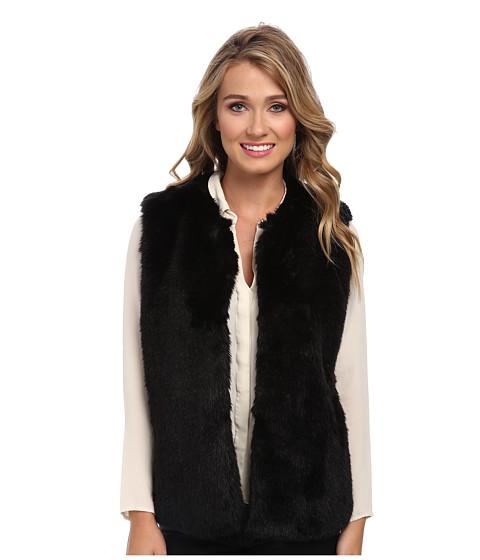 Vince Camuto - Plush Faux Fur Vest (Rich Black) Women's Vest