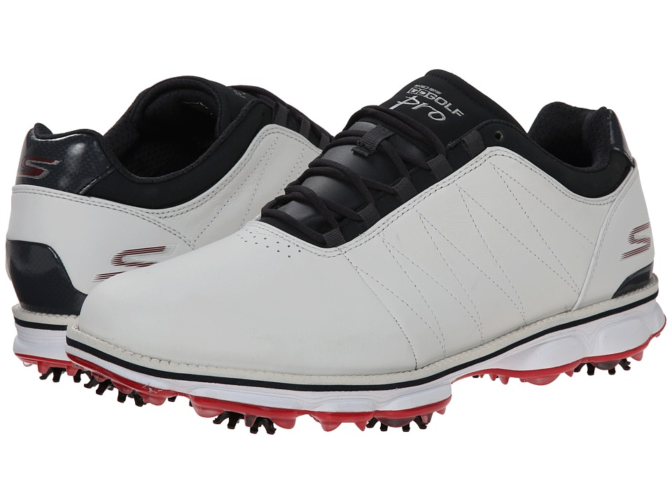 SKECHERS Performance - Go Golf Pro (White/Navy/Red) Men's Golf Shoes