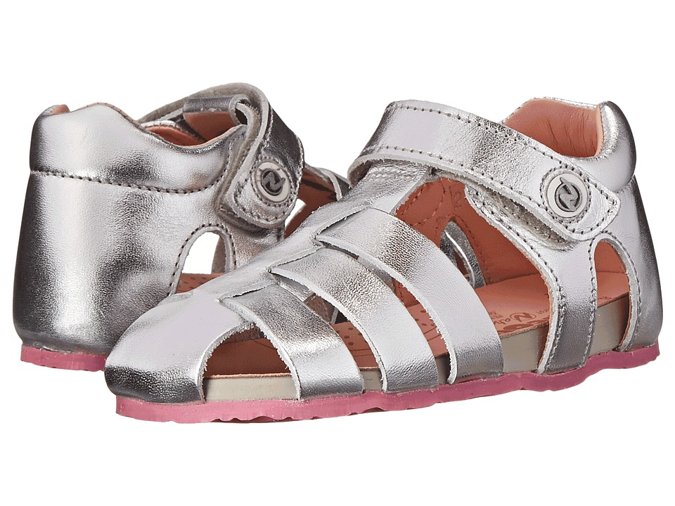 Naturino - Nat. 1405 SP 15 (Toddler) (Silver) Girls Shoes