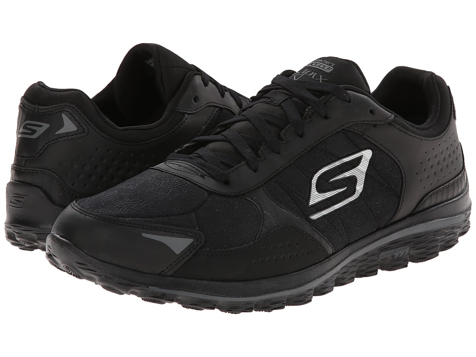 SKECHERS Performance - Go Walk 2 Golf - Lynx LT (Black) Men's Lace up casual Shoes