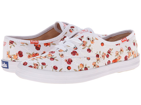 Keds - Taylor Swift's Champion Eyelet Berry (White/Red) Women's Dress Flat Shoes