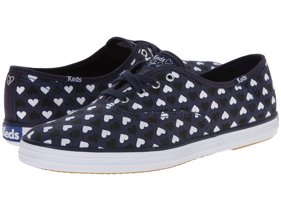 Keds - Taylor Swift's Champion Hearts (Navy) Women's Dress Flat Shoes