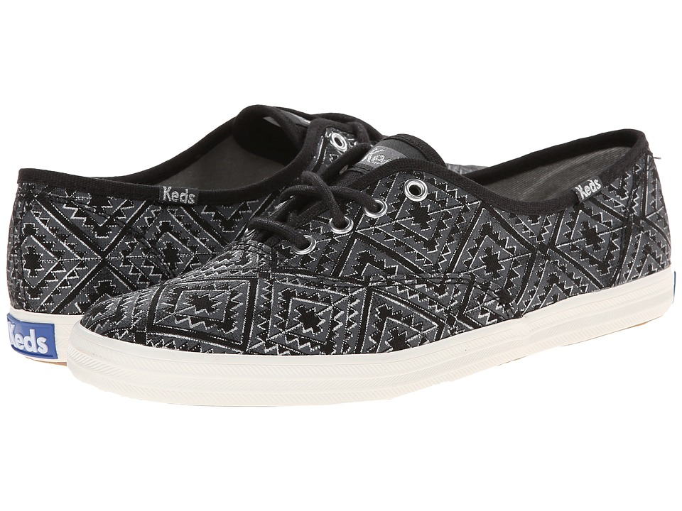 Keds - Champion Tribal Metallic (Black) Women's Lace up casual Shoes
