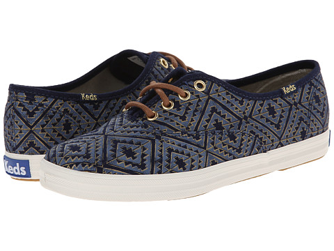 Keds - Champion Tribal Metallic (Navy) Women