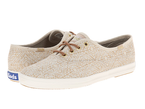 Keds - Champion Tribal Metallic (Natural) Women's Lace up casual Shoes