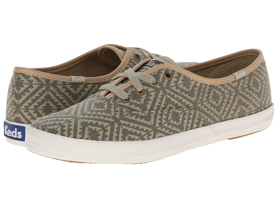 Keds - Champion Tribal (Eucalyptus Green) Women's Lace up casual Shoes