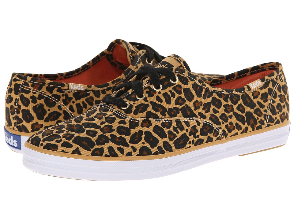 Keds - Champion Leopard (Tan) Women's Lace up casual Shoes
