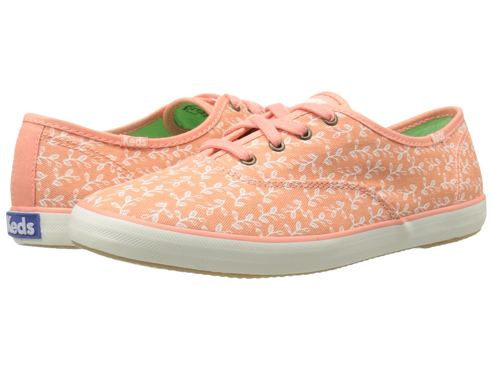 Keds - Champion Botanical Leaves (Melon Pink) Women's Lace up casual Shoes