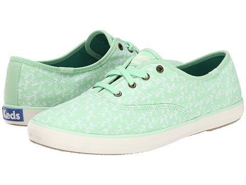 Keds - Champion Botanical Leaves (Mint Green) Women's Lace up casual Shoes