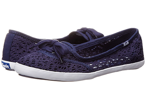 Keds - Teacup Crochet (Navy) Women