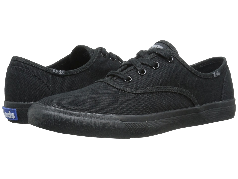 Keds - Triumph Seasonal Solid (Black/Black) Women's Lace up casual Shoes