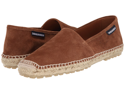 DSQUARED2 - Suede Espadrille (Cuoio) Men's Slip on Shoes