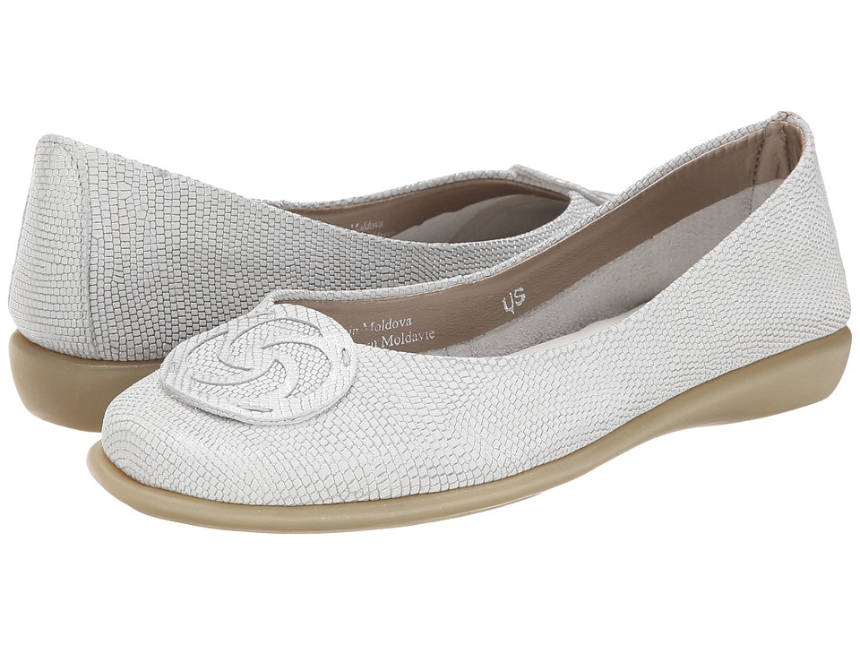 The FLEXX - Bon Bon (White Ariel) Women's Flat Shoes