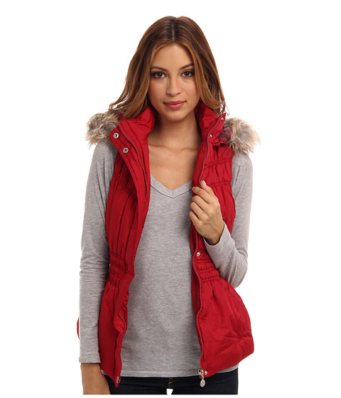 dollhouse - Zip-Front with Snap Placket (Royal Red) Women's Vest