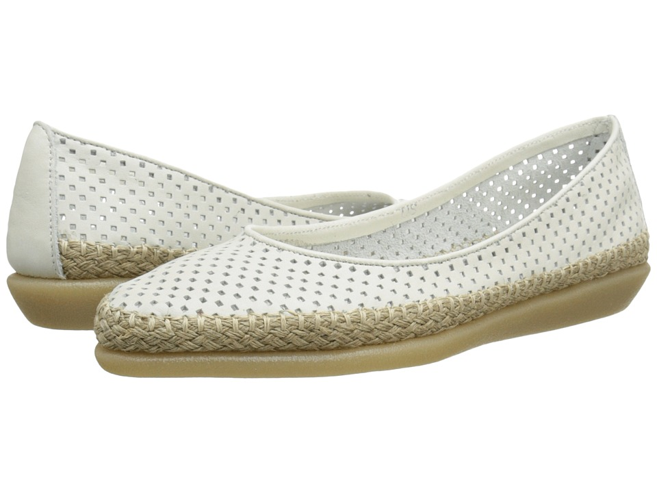 The FLEXX - Torri (White Elba Perf) Women's Flat Shoes