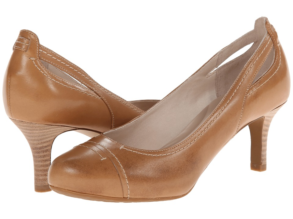 Rockport Seven to 7 65mm Stitch Cap Toe (Burnish Nude Calf) High Heels