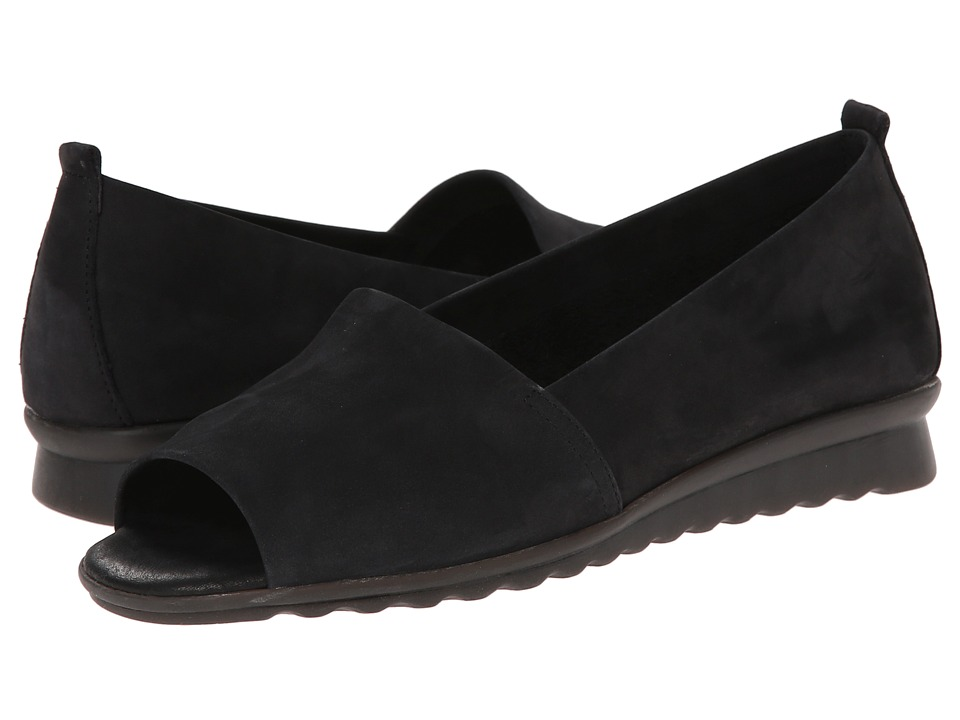 The FLEXX - Fantastic (Black Nubuck) Women's Flat Shoes