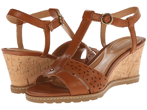 Rockport - Garden Court T-Strap (Valigia Perf Leather) Women's Sandals
