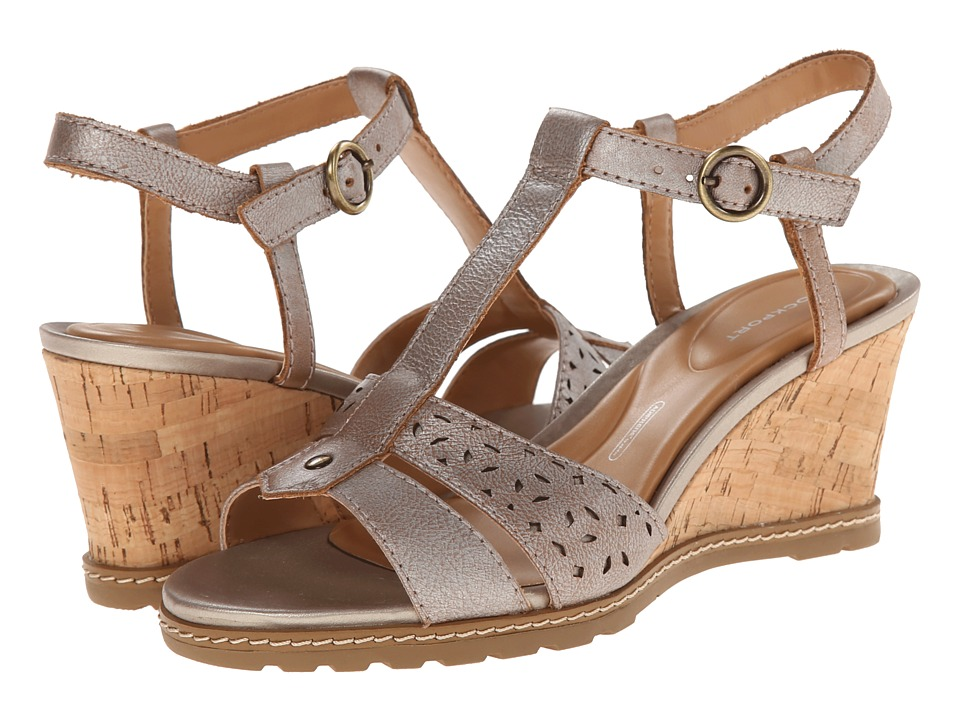 Rockport - Garden Court T-Strap (Alba/Valigia Metallic Burnish) Women