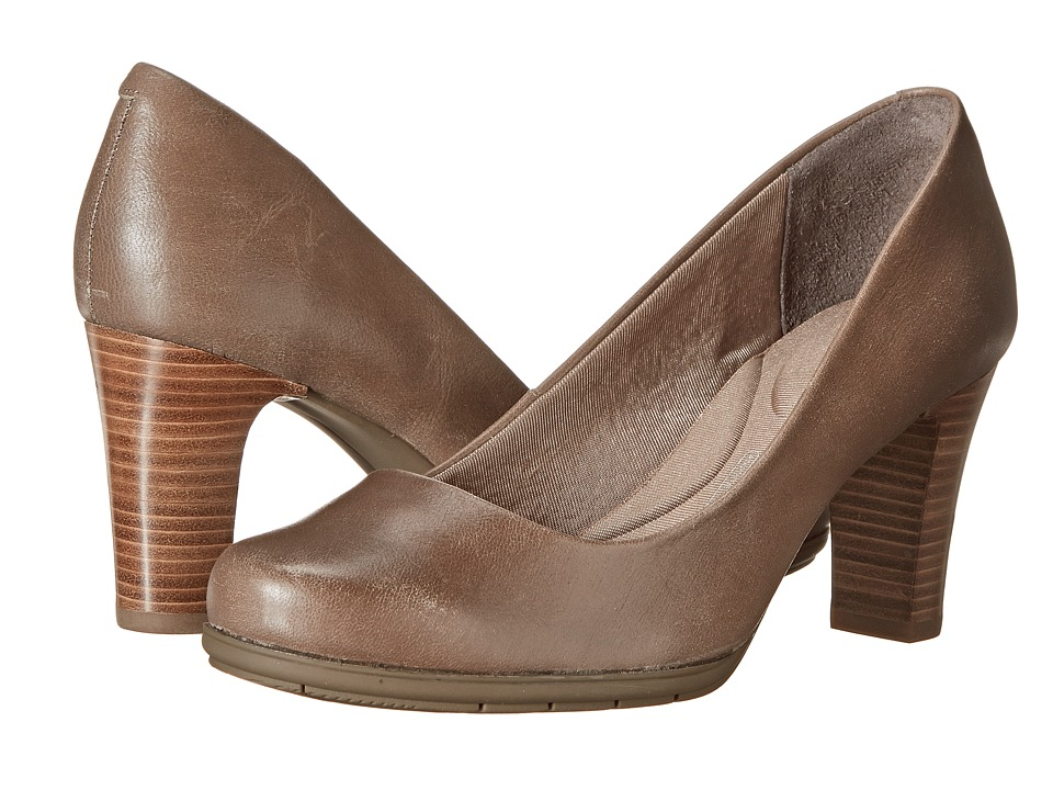 Rockport - Total Motion 75mm Plain Pump (New Taupe Tumble Goat) High Heels