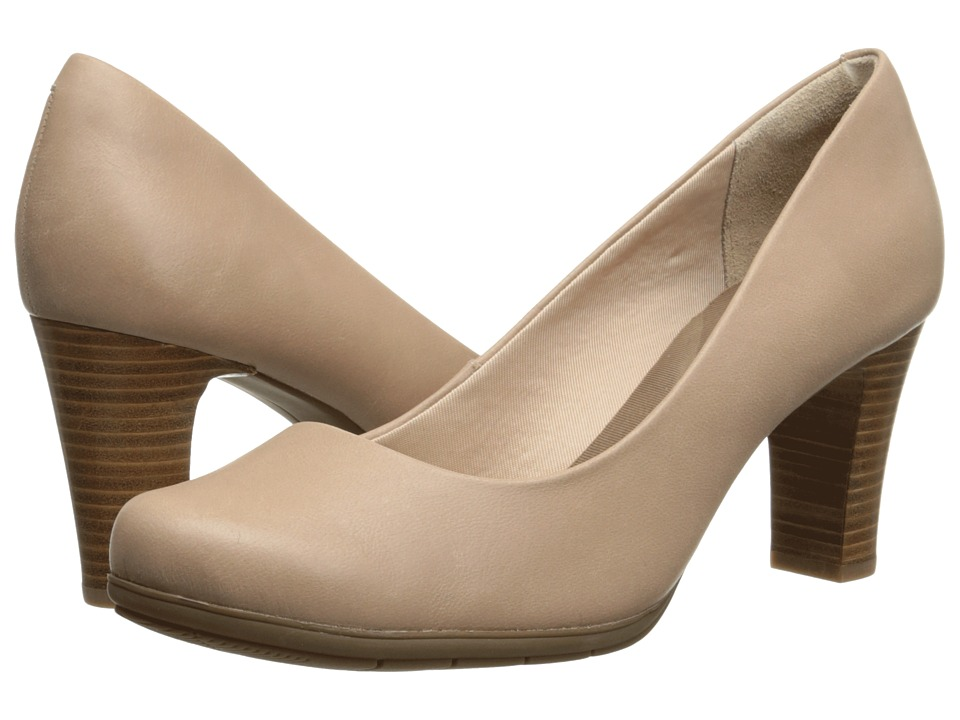 Rockport - Total Motion 75mm Plain Pump (Summer Nude Waxed Calf) High Heels