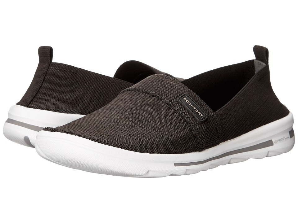 Rockport - XCS Rock On Air Comfort Slip-on (Black Gore Washable) Women's Slip on Shoes