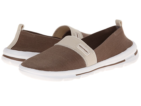 Rockport - XCS Rock On Air Comfort Slip-on (New Taupe Gore Washable) Women's Slip on Shoes