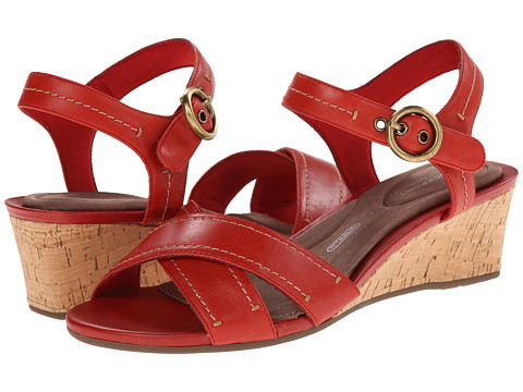 Rockport - Total Motion 55mm Quarter Strap (Red Berry Smooth Casual) Women's Sandals
